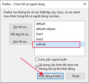 Tạo firefox profile và đăng nhập gmail